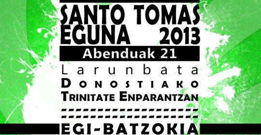 Santo  Tomas  Eguna  2013